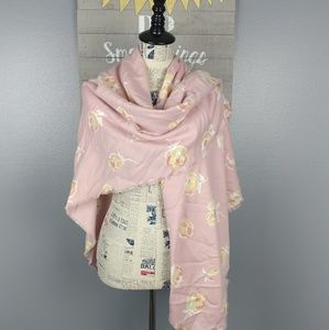 NWT Blanket scarf - pink flower